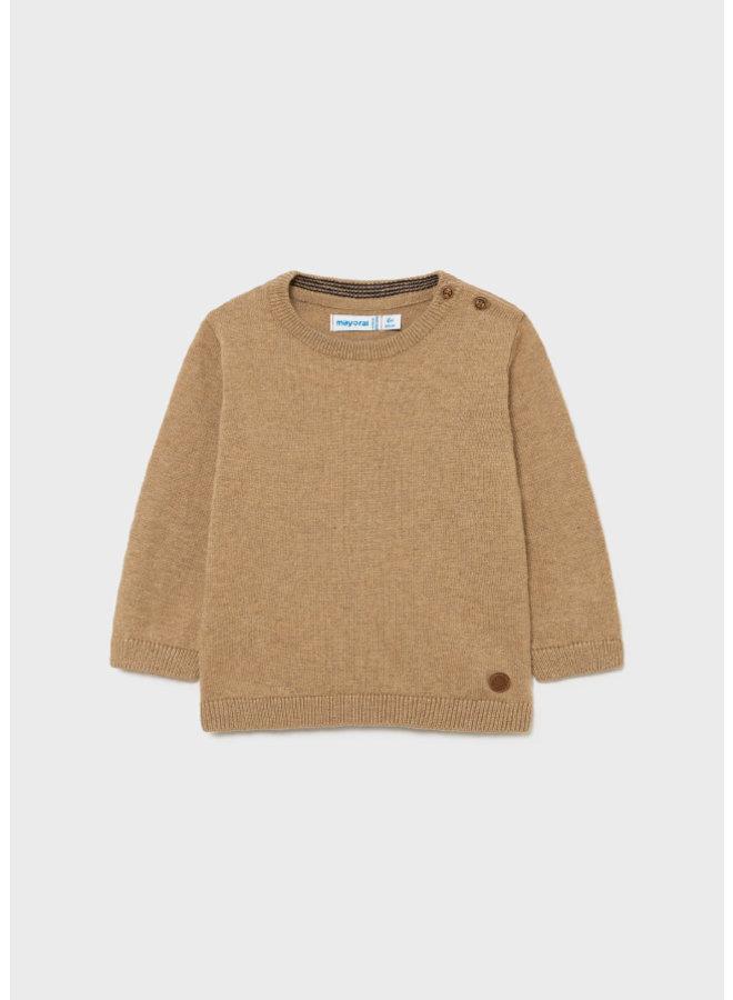 Mayoral Basic crew neck sweater Waalnut
