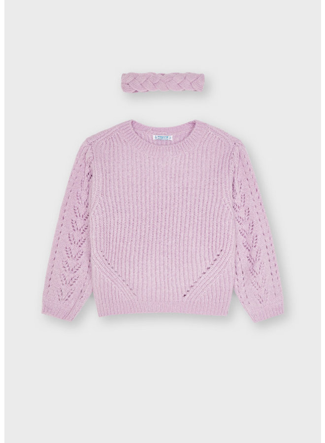 Mayoral Sweater with turban Lilac