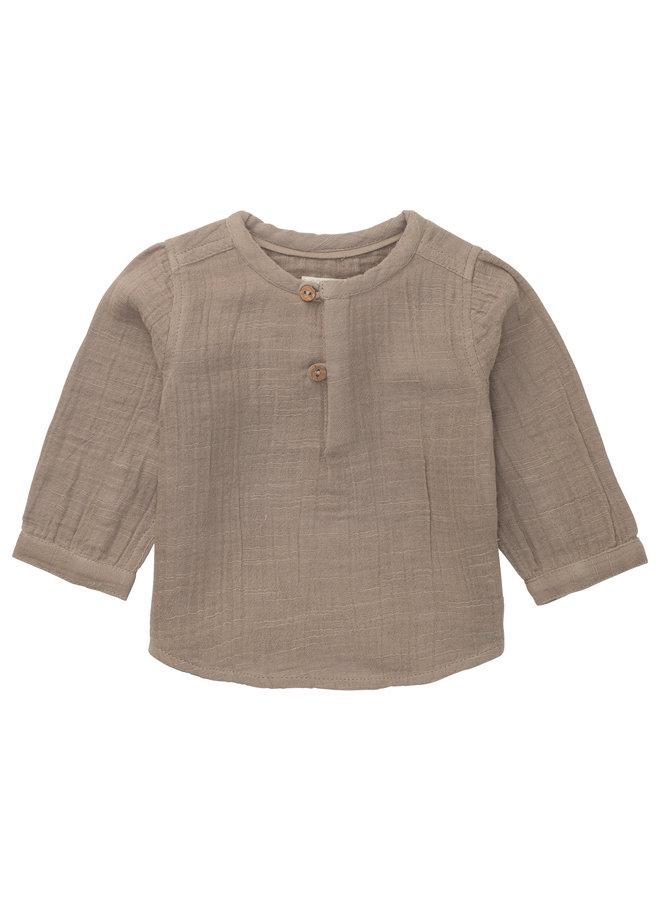 U woven Shirt LS Rosetto - Cinder
