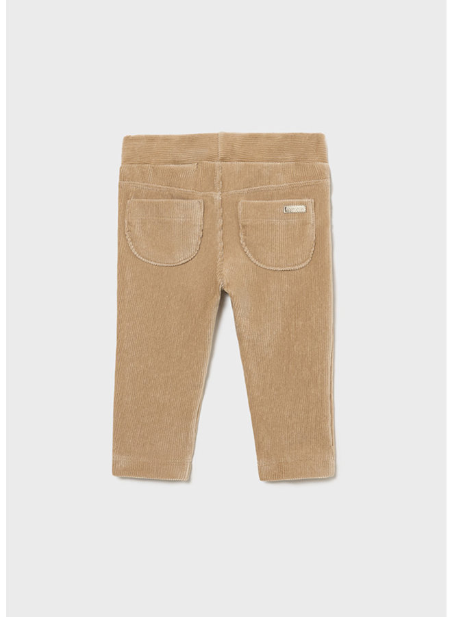 Mayoral Basic cord knit trousers Sand