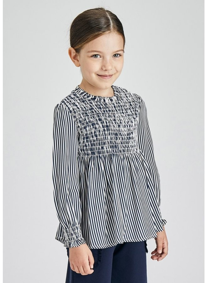 Mayoral Honeycomb blouse Ink