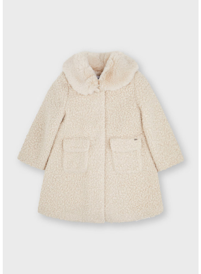 Mayoral Shearling coat Almond