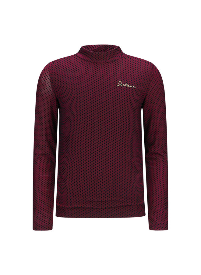 T-Shirt Leonore - Wine Red