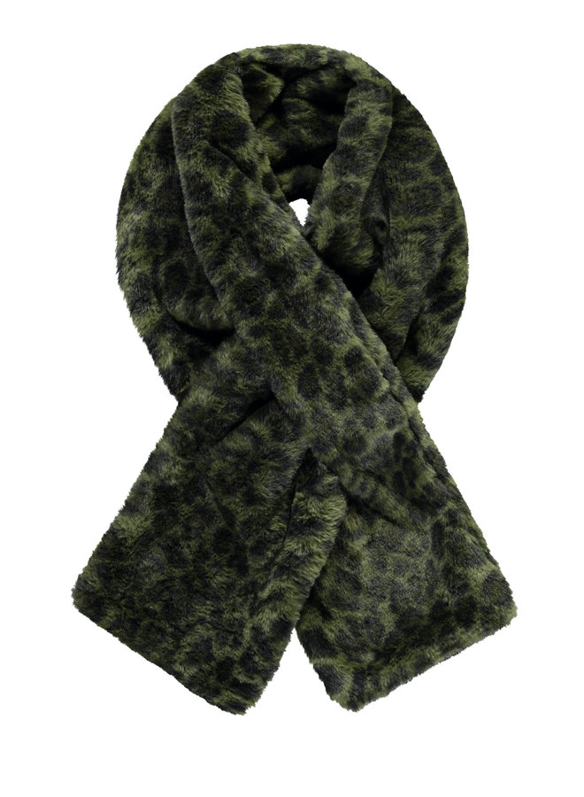 Flo girls fur scarf double layer - Army