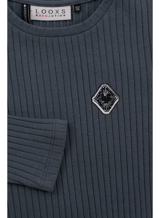 10Sixteen Tie dye l.sleeve T-shirt - Storm Blue