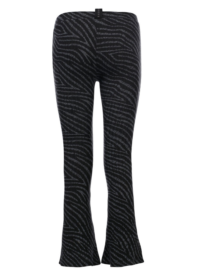 10Sixteen Tie dye flare pants - Stormy Zebra
