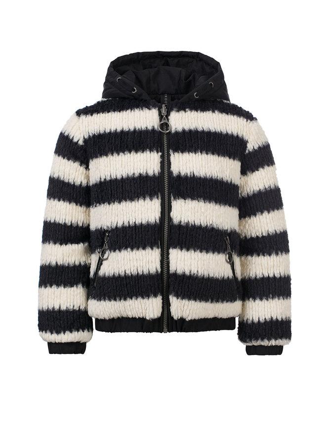10Sixteen fur bomber jacket - Black