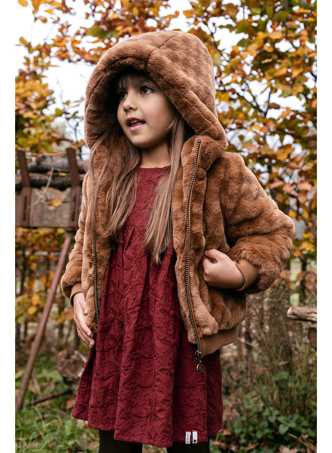 Little jacket check fur - Check Fur