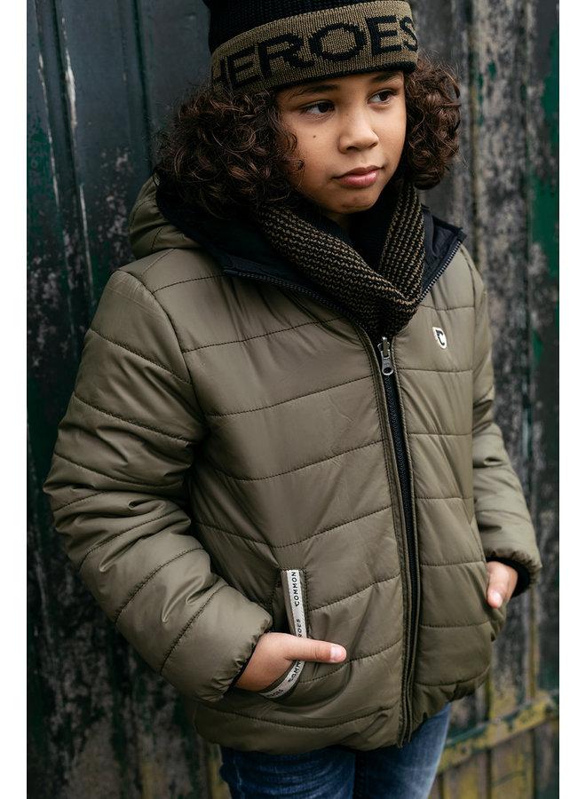 REVERSIBLE outerwear jacket - Moss Green