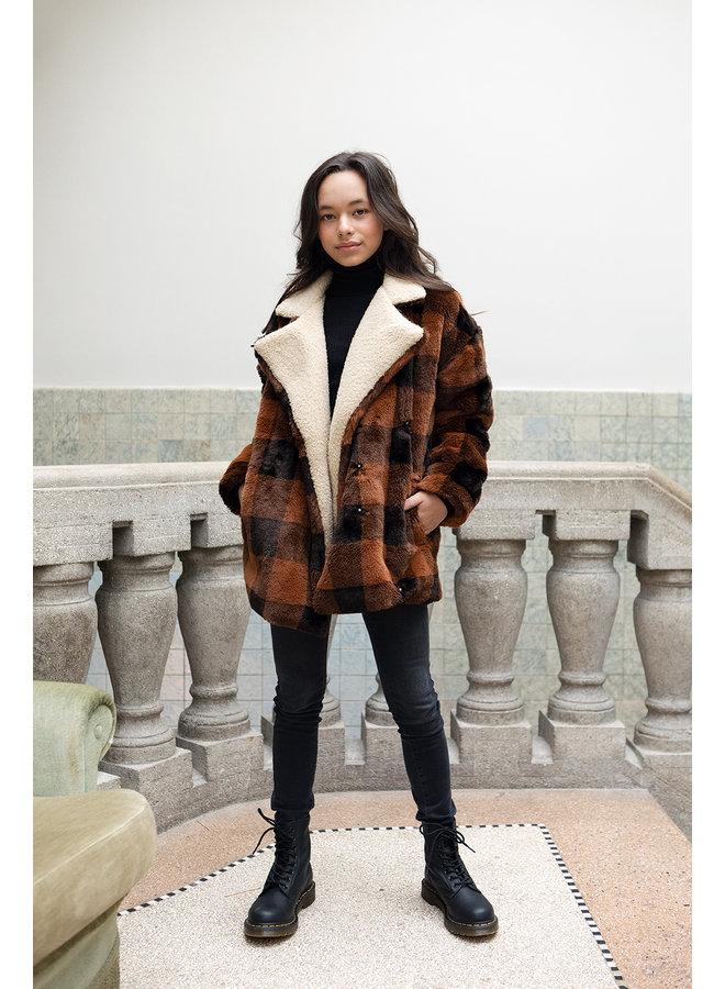 10Sixteen Check fur - Brown
