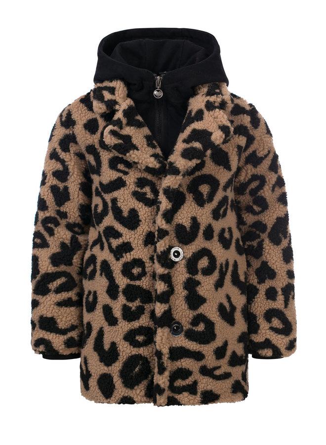 10Sixteen Long teddy panther coat - Big Jaguar