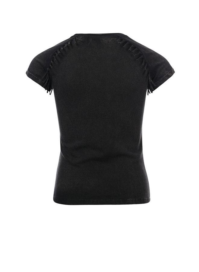 10Sixteen washed T-shirt - Acid Black