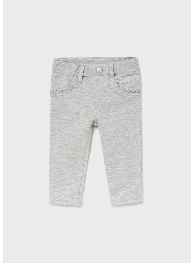 Mayoral Fleece basic trousers Silver