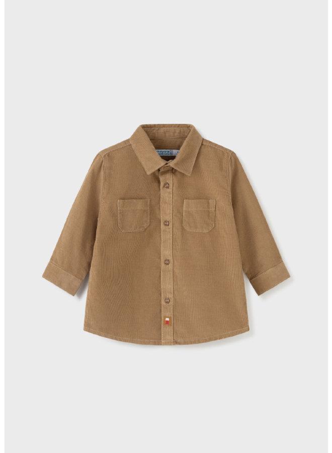 Mayoral L/s micro-cord shirt Walnut