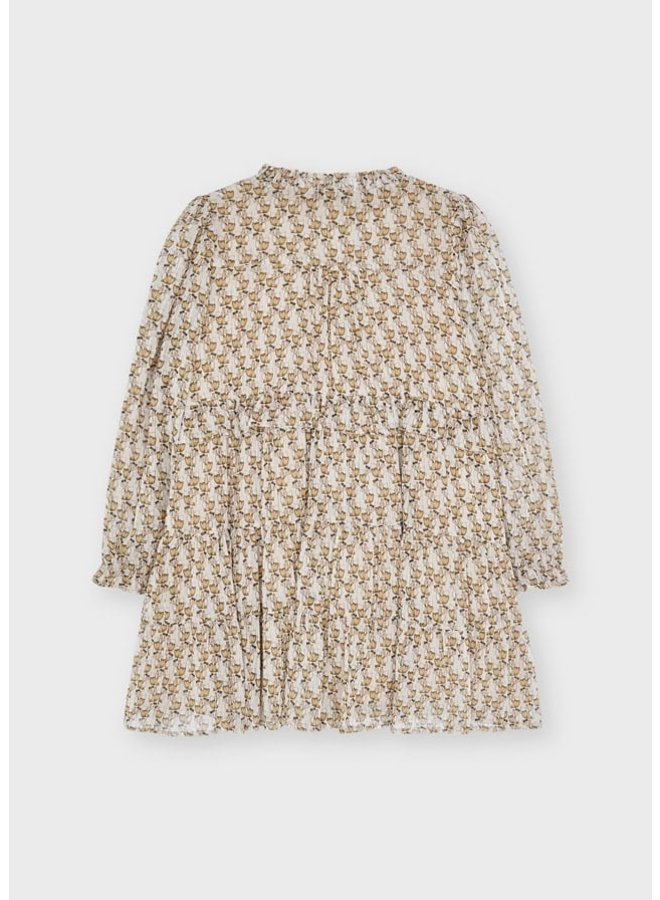 Mayoral Printed dress Almond