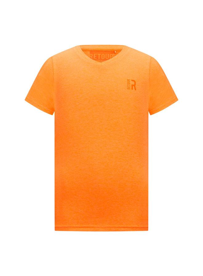 T-Shirt Sean - Neon Orange