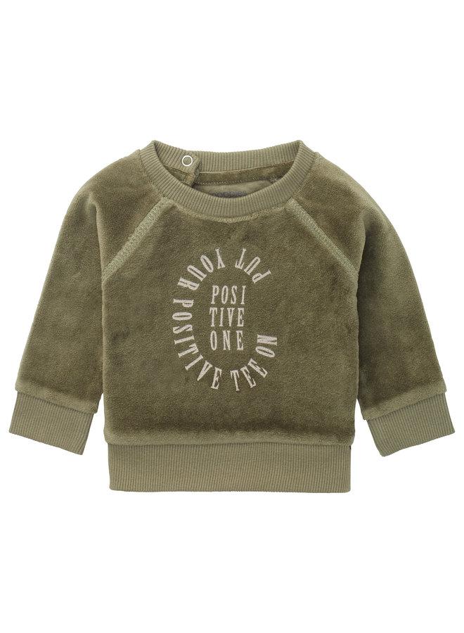 B Sweater LS Rio Honde - Deep Lichen Green