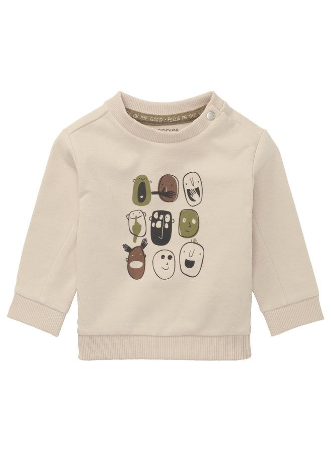 B Sweater LS Rimatara - Gray Morn