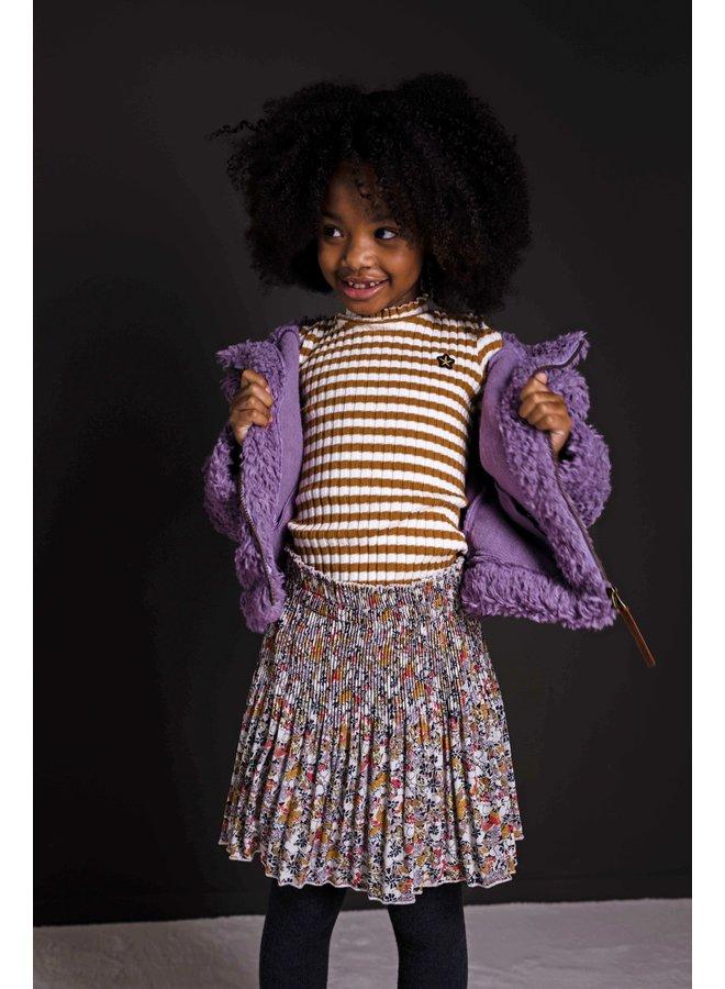 Flo girls woven crepe plisse skirt - Graphic flower