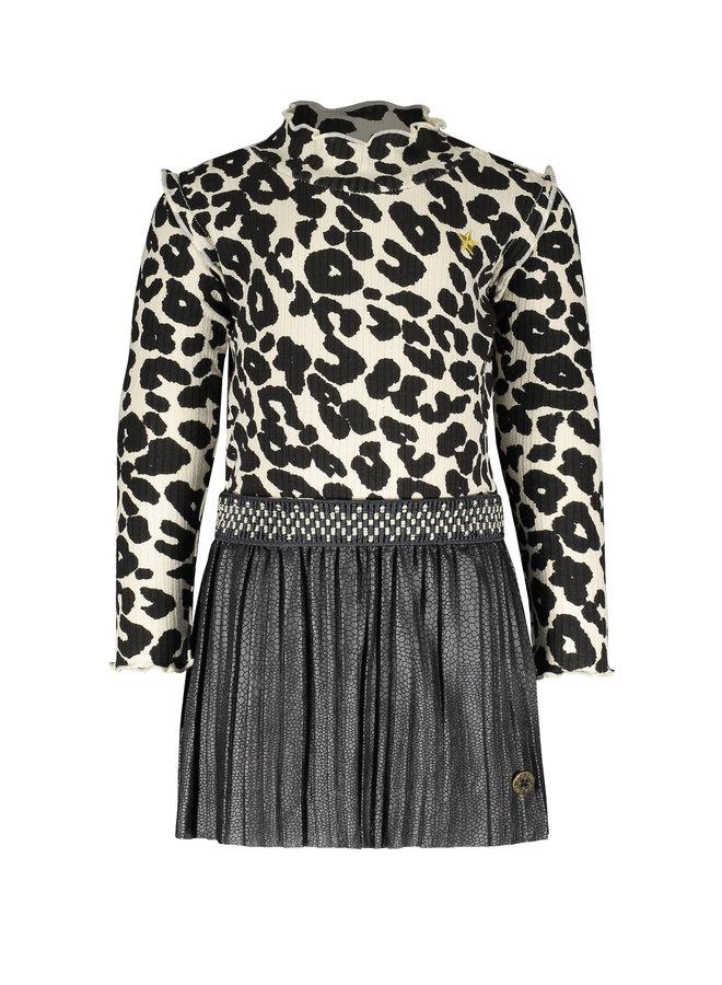 Flo baby girls rib dress plise skirt - Animal