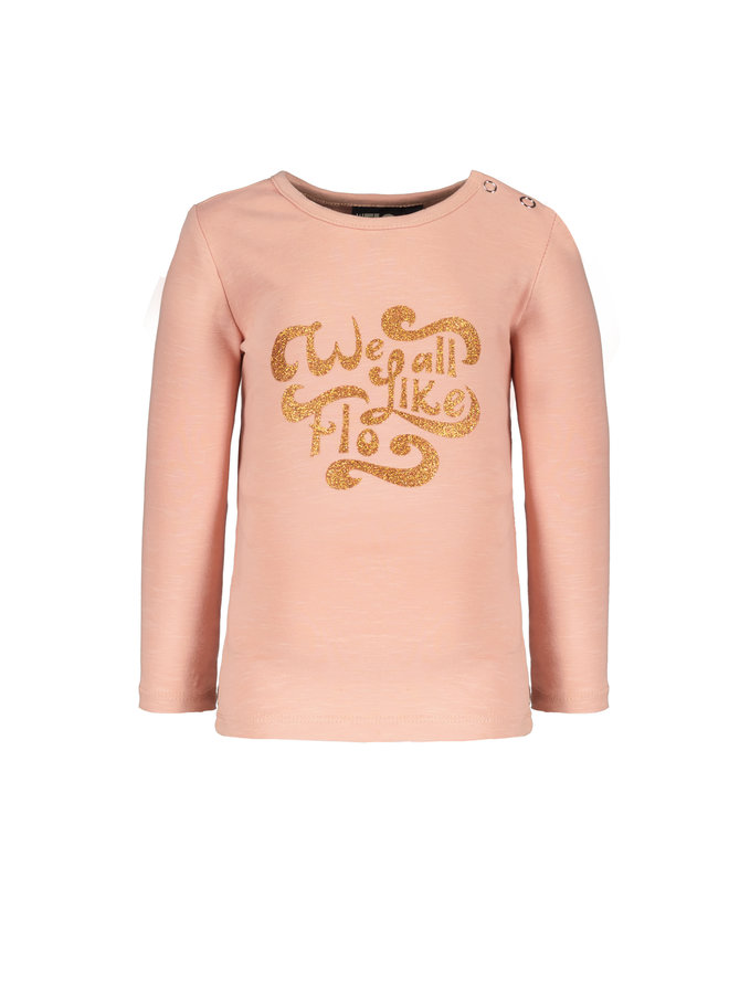 Flo baby girls jersey tee - Faded pink