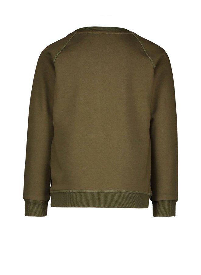 Flo boys raglan sweater - Olive