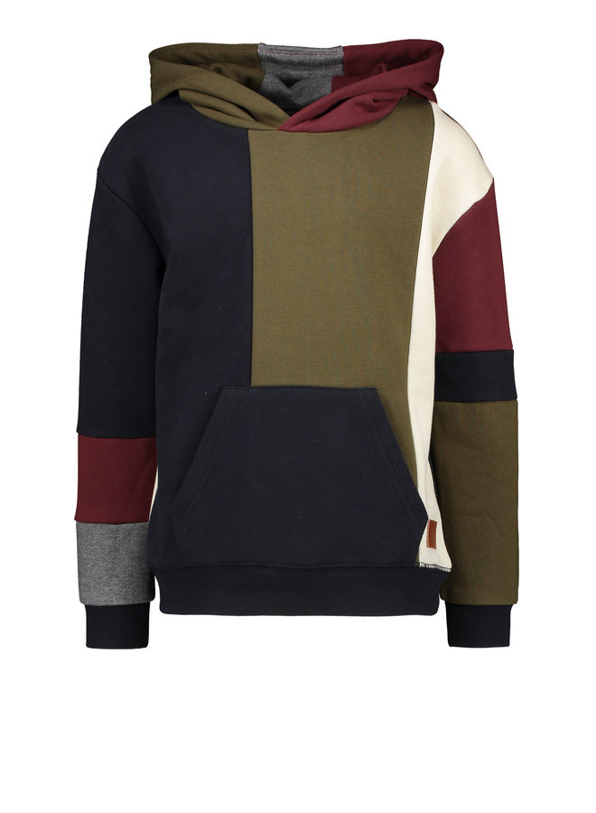 Flo boys hooded colourblock sweater - Multi