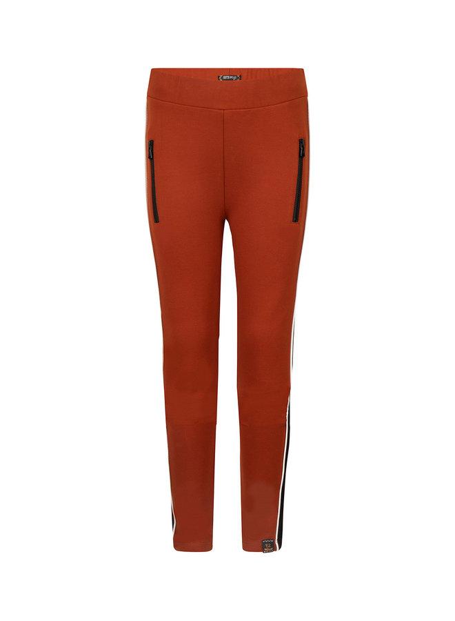 CUT & SEW LEGGING PANTS - Camel Brown