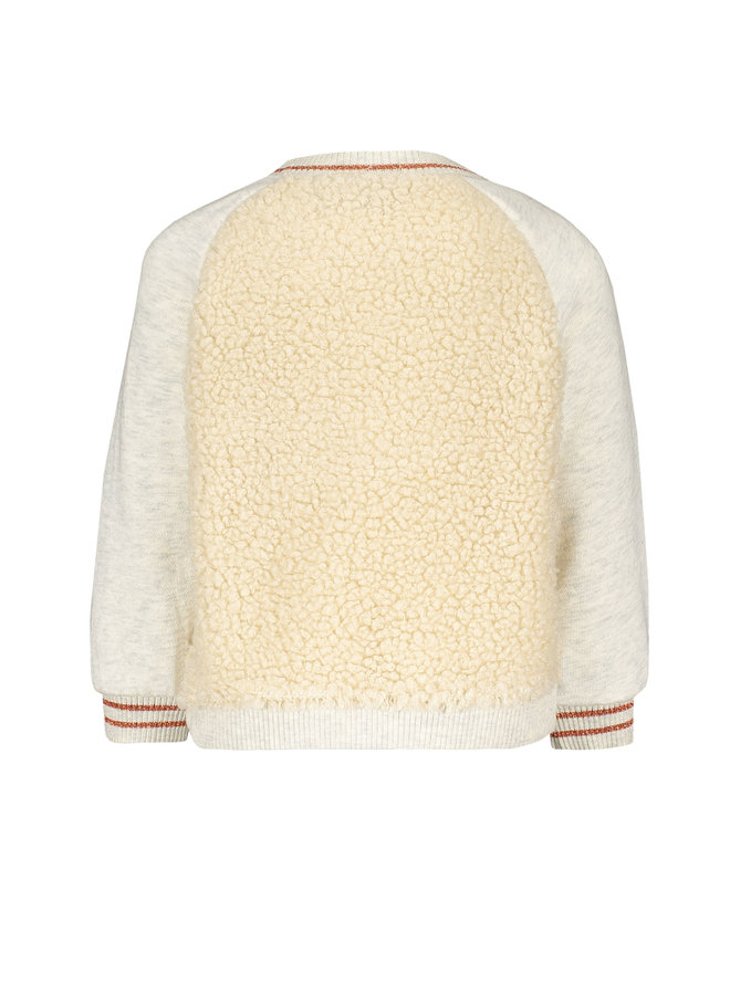 Flo baby girls teddy sweater - Ecru melee