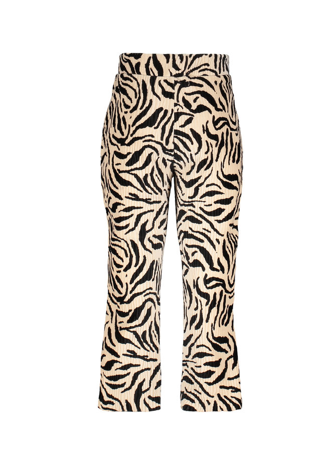 Flo baby girls crincle velvet flared pant - Zebra