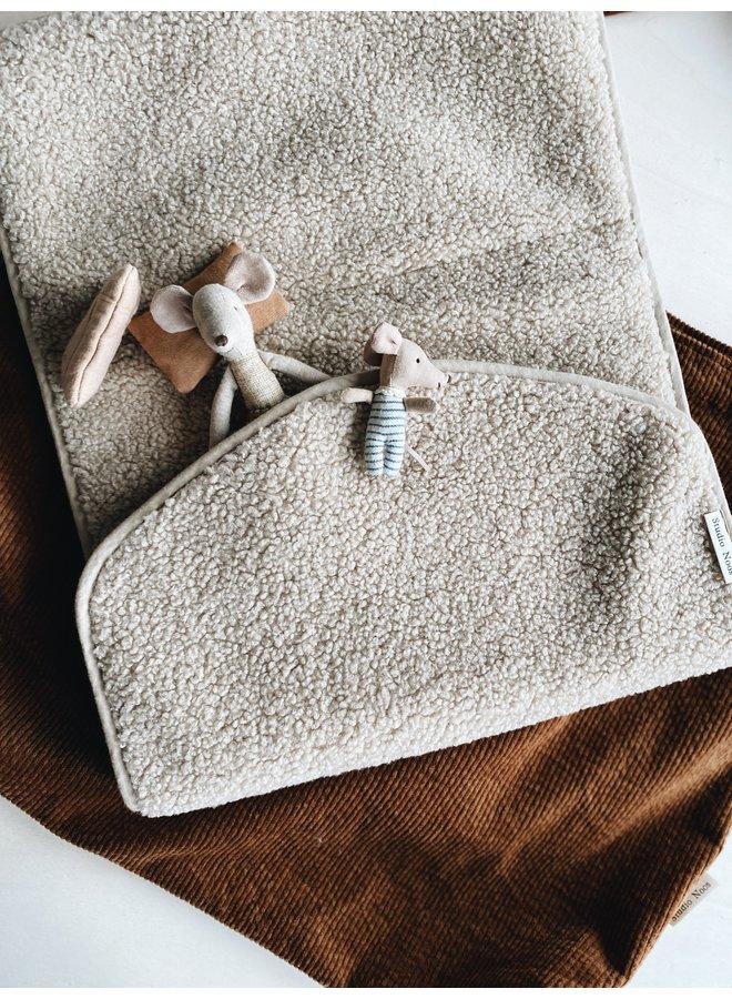 Ecru chunky changing mat