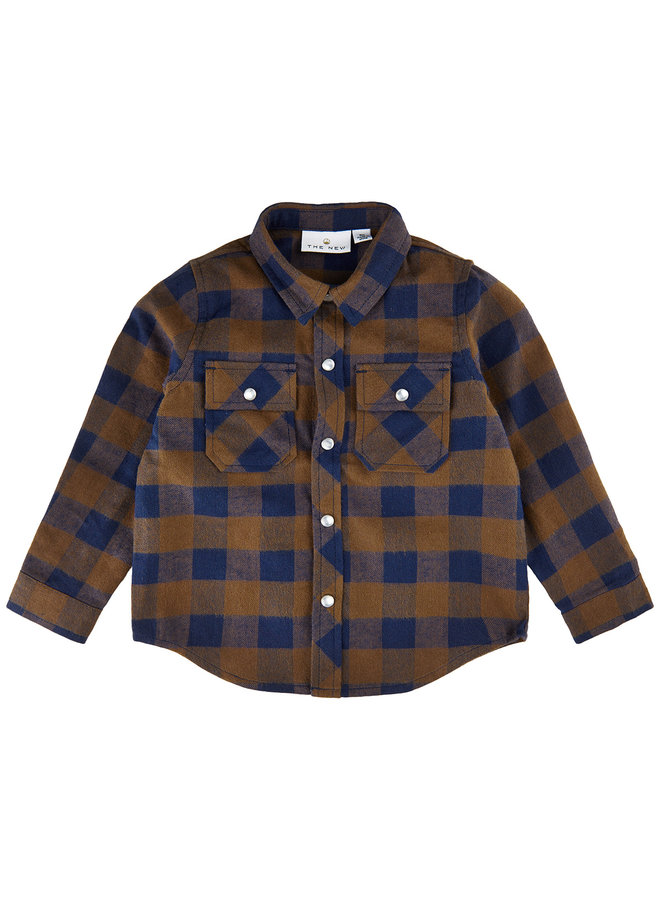 TNASHER L_S SHIRT - Toffee