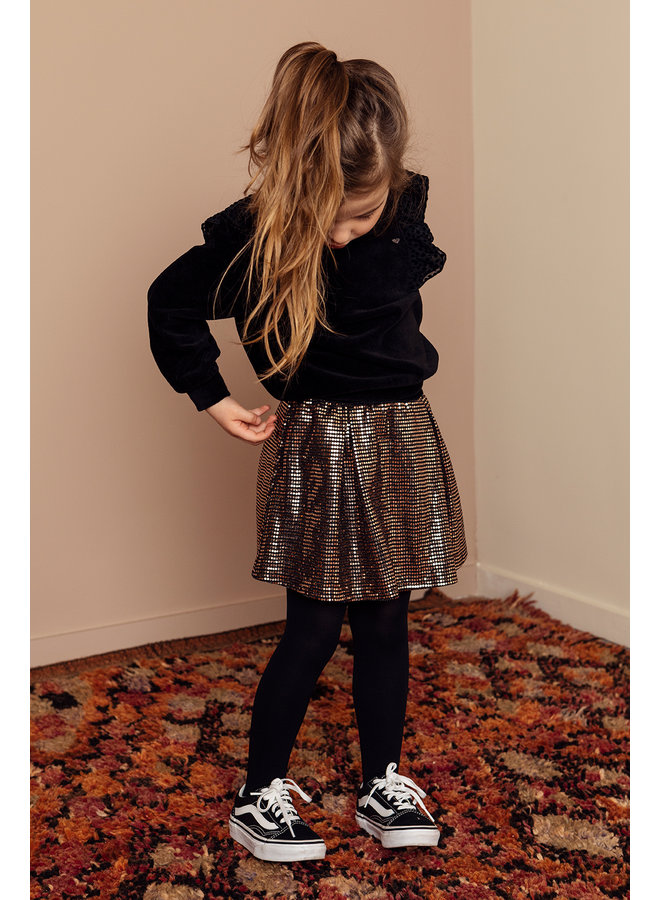 LOOXS Little Sweater - Black cotton
