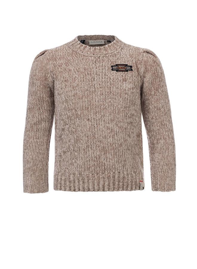 10Sixteen chenille pullover - Sand Smoke