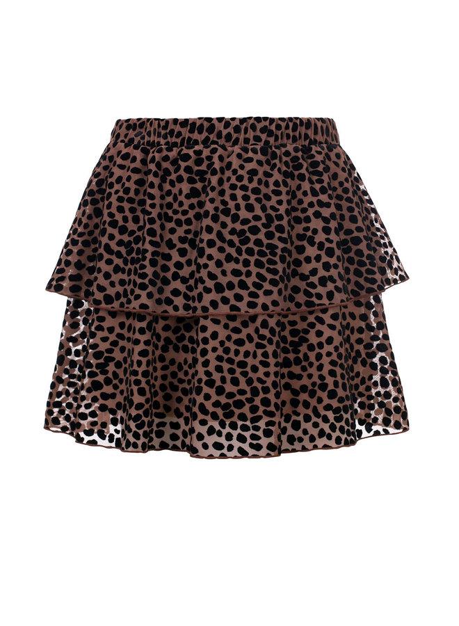 10Sixteen mesh flock skirt - Cacao