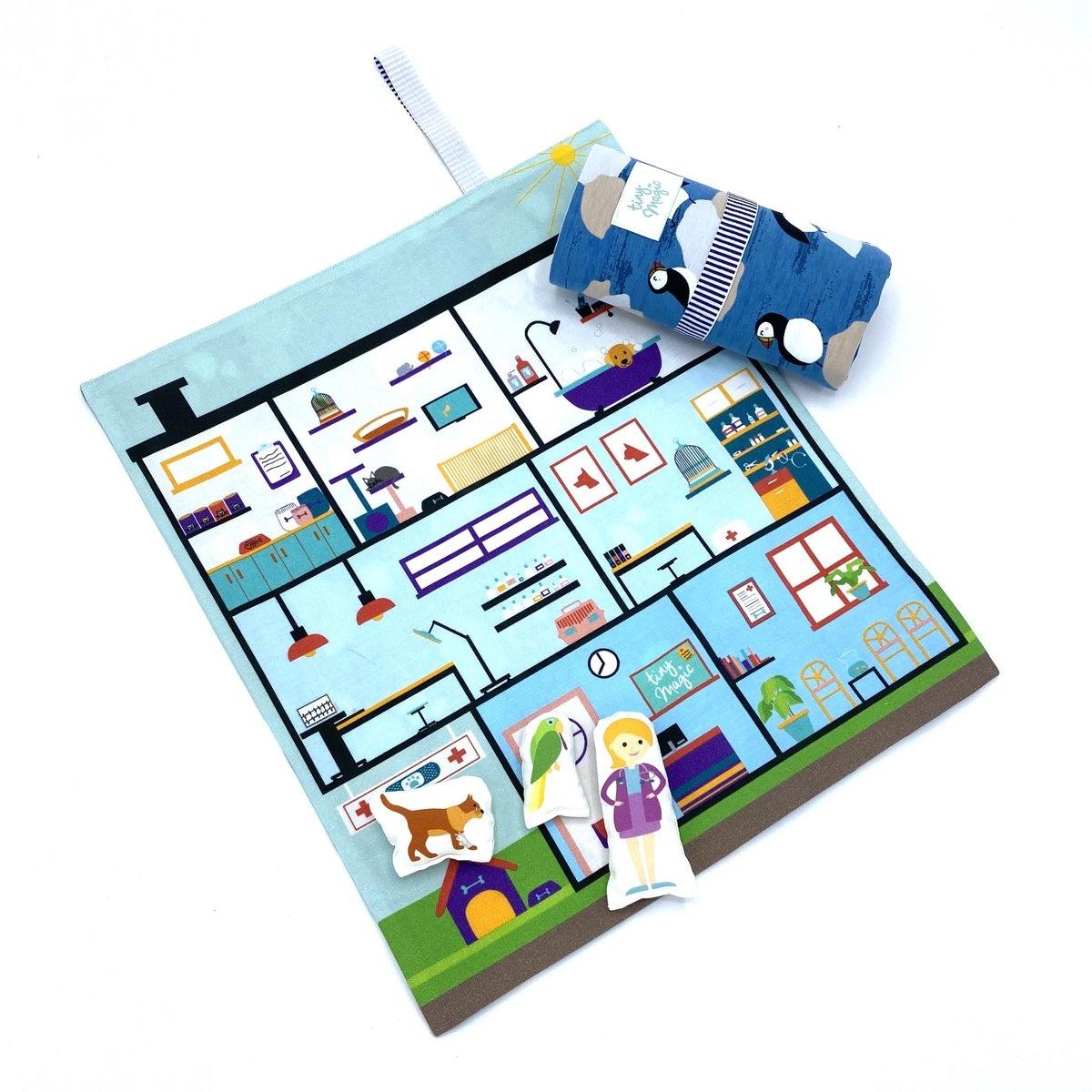 Speelmat dierenziekenhuis Tiny Magic-4