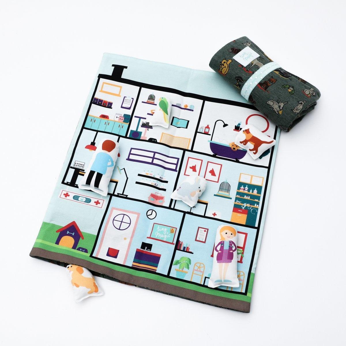 Speelmat dierenziekenhuis Tiny Magic-1