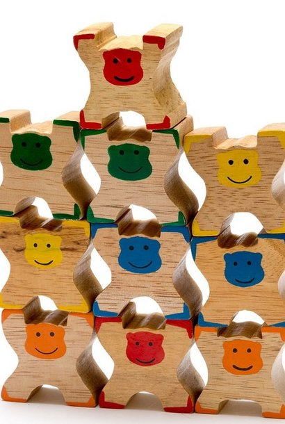 Houten stapelspeelgoed
