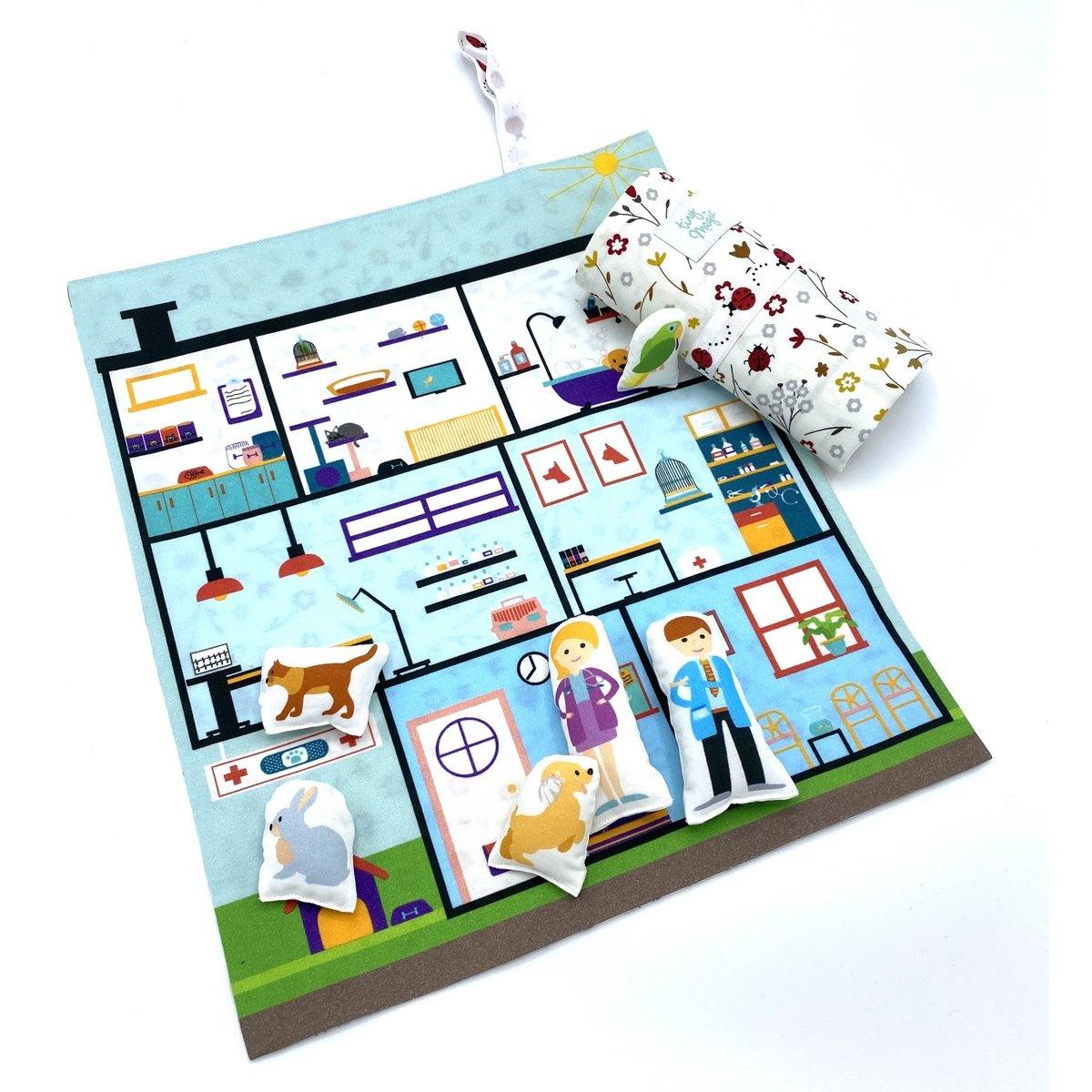 Speelmat dierenziekenhuis Tiny Magic-3