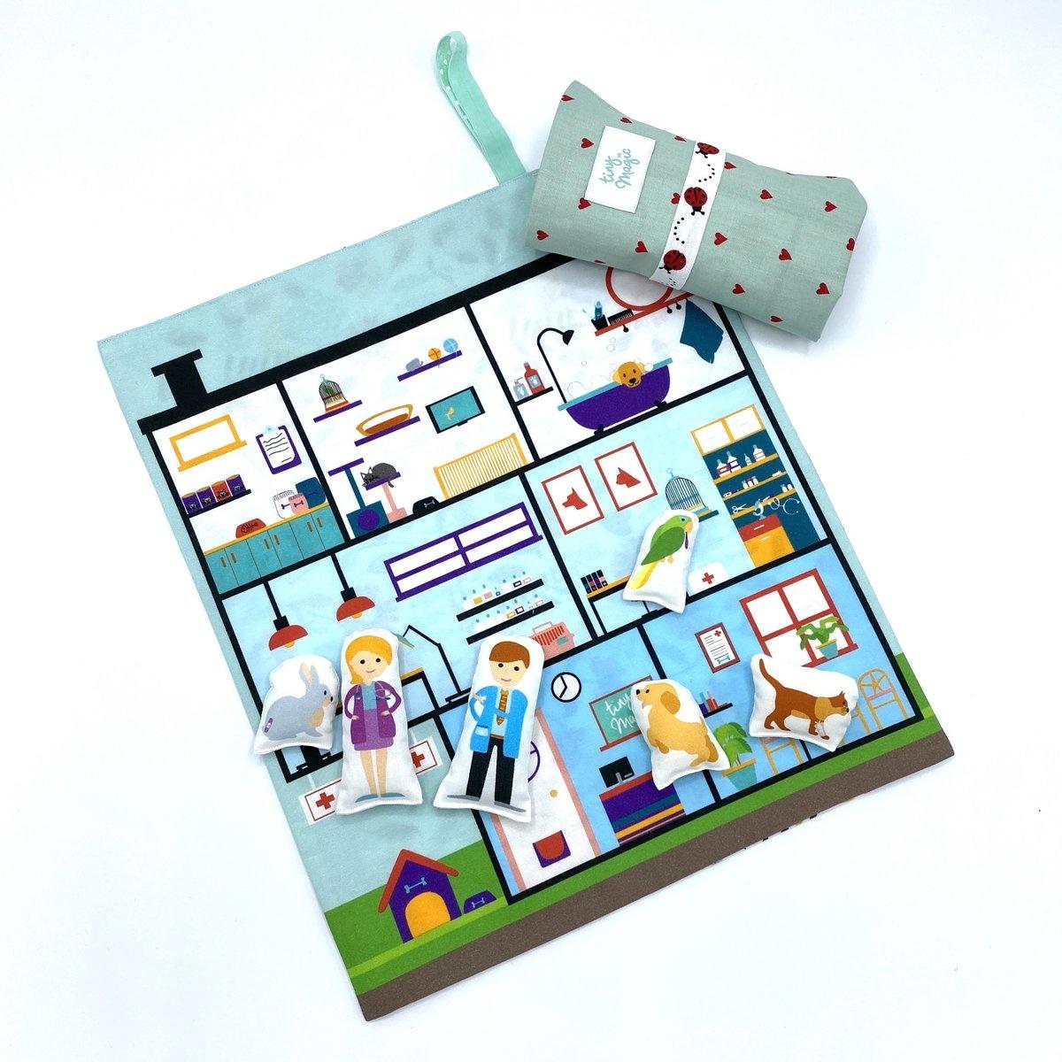 Speelmat dierenziekenhuis Tiny Magic-2