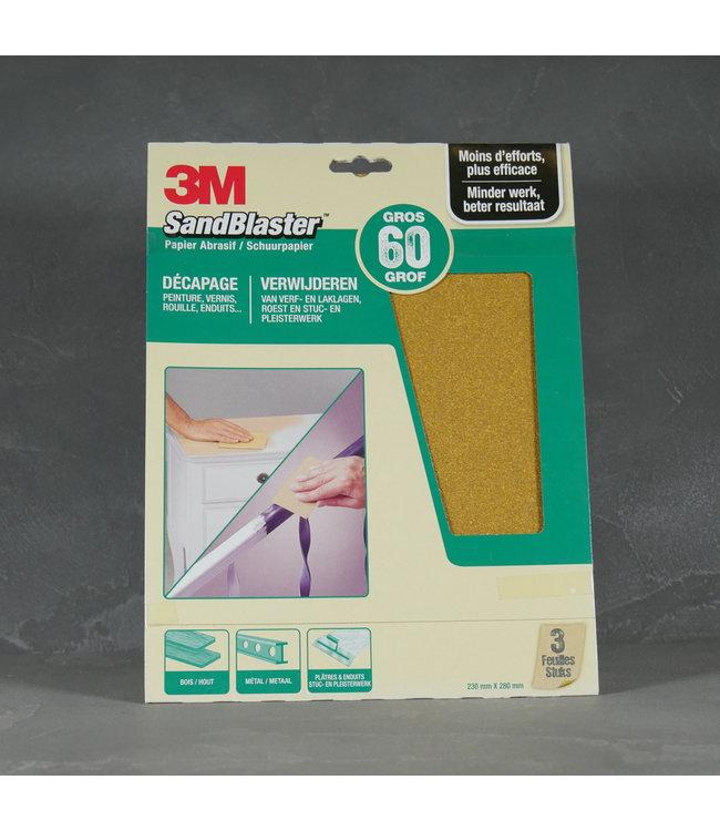 3M 3M SandBlaster Schuurpapier Korrel 60
