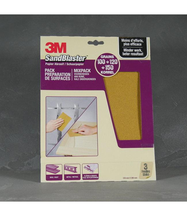 3M 3M SandBlaster Schuurpapier Korrel 100 - 120 - 150