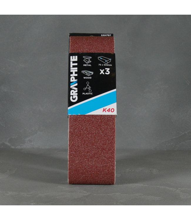 Graphite Graphite Schuurpapier 55H797 K40