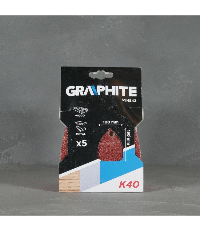 Graphite Graphite Schuurpapier 55H843 K40 5 stuks