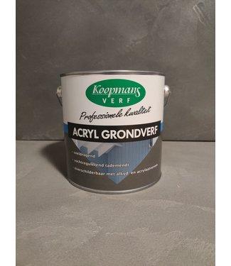 Koopmans Acryl Grondverf Zwart - 9005 2.5ltr