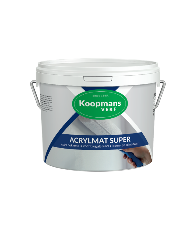 Koopmans Koopmans Acrylmat Super Zwart