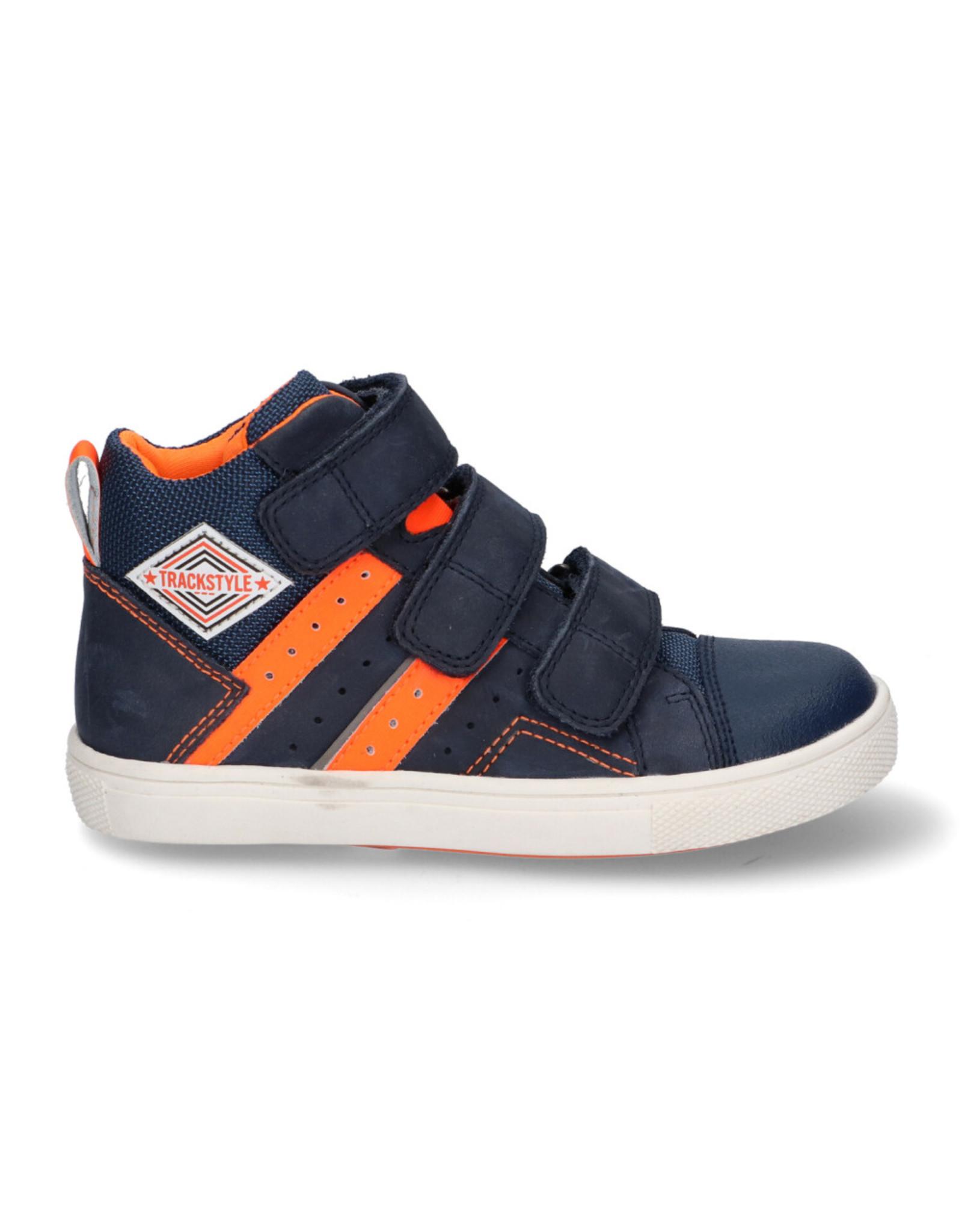 Track - Style Track - Style hoge klittebandschoen Blauw/Oranje