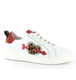 Clic Clic - Witte Meisjes Sneaker Met Hartje