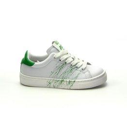 Piedro Piedro - Witte Jongens Sneaker Wit/Groen