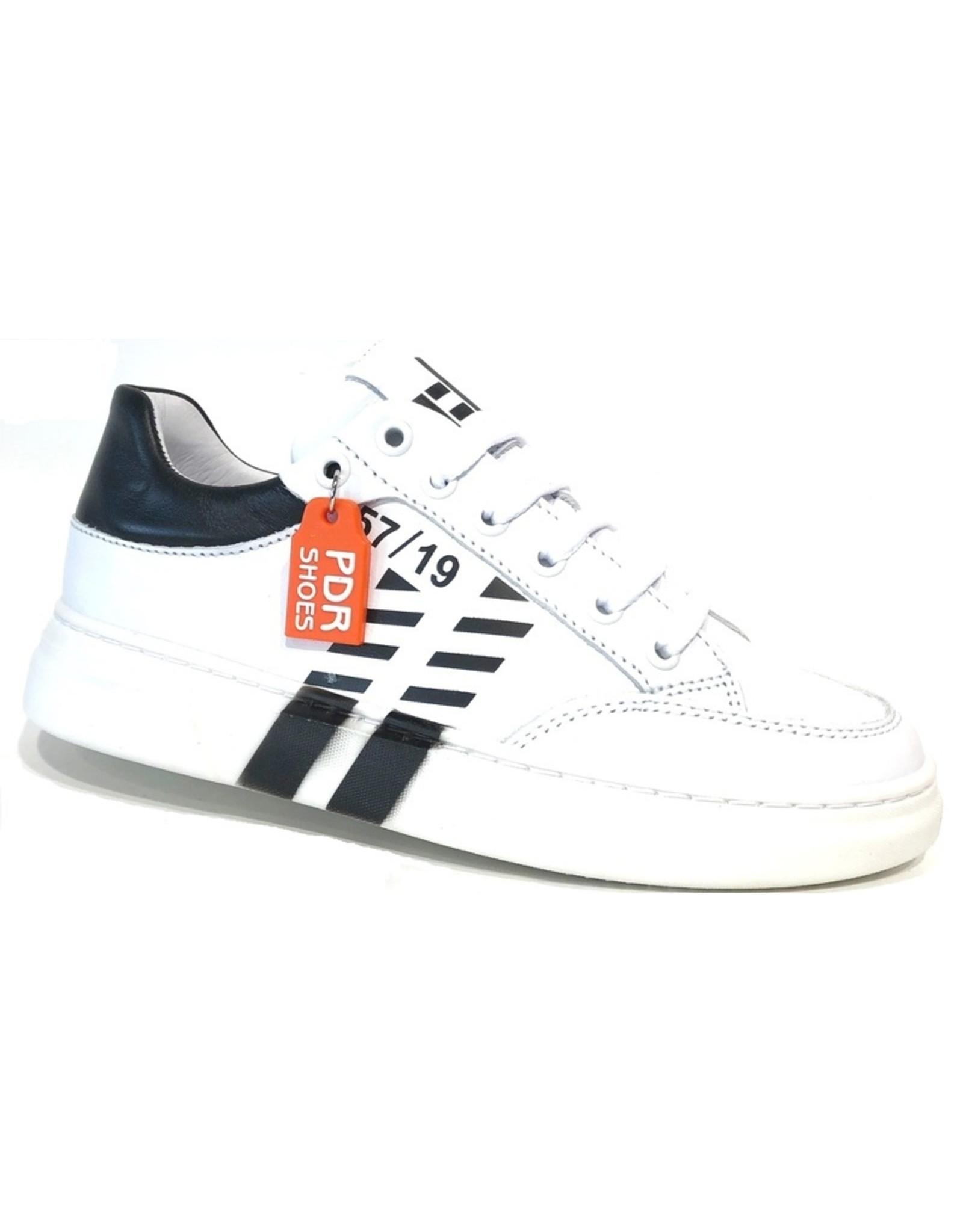 Piedro Piedro - Wit Zwarte Jongens Sneaker